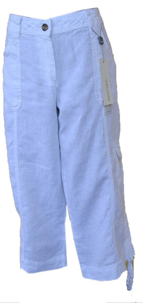 Damen 34 Hose, Caprihose Leinen Stehmann Modell Ricos reduziert
